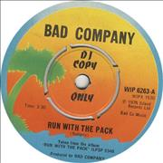 Click here for more info about 'Bad Company - Run With The Pack'