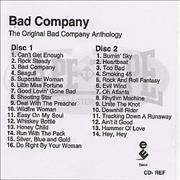Click here for more info about 'Bad Company - The Original Bad Company Anthology - 2 X Cd-r'