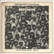 Click here for more info about 'Badfinger - Come And Get It - P/S - Solid - VG'