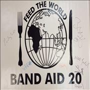 Click here for more info about 'Band Aid 20 - Feed The World - Autographed PVC Banner'