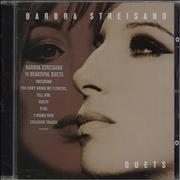 Barbra Streisand Duets UK CD album