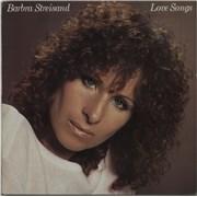 Barbra Streisand Love Songs - EX UK vinyl LP
