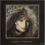 """Barbra Streisand No Matter What Happens UK 7"""" vinyl Promo"""