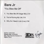Click here for more info about 'Bare Jr. - You Blew Me Off'