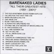 Click here for more info about 'Barenaked Ladies - All Their Greatest Hits 1991-2001'
