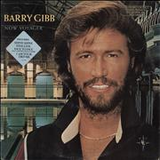 Click here for more info about 'Barry Gibb - Now Voyager - promo stamped p/s'