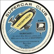 "Barry Gray Sabotage / Supercar Song / Supercar Twist UK 7"" vinyl"
