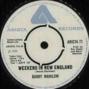 Click here for more info about 'Barry Manilow - Weekend In New England'