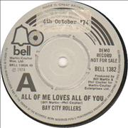 Click here for more info about 'Bay City Rollers - All Of Me Loves All Of You'