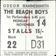 Click here for more info about 'The Beach Boys - 1966 UK Tour Ticket'
