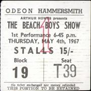 Click here for more info about 'The Beach Boys - 1967 The Beach Boys Show Ticket Stub'