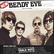 Beady Eye March Tour 2011 UK poster