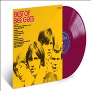 Click here for more info about 'The Bee Gees - Best Of Bee Gees - Crimson Vinyl'