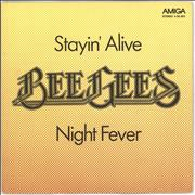 Click here for more info about 'Bee Gees - Stayin' Alive - Maroon labels'