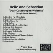 Click here for more info about 'Belle & Sebastian - Dear Catastrophe Waitress - 13 Tracks'