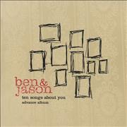 Click here for more info about 'Ben & Jason - Ten Songs About You - Advance Album'