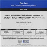 Click here for more info about 'What's So Bad (About Feeling Good)?'