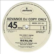 Click here for more info about 'Berlin - You Don't Know Me'