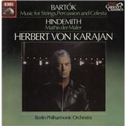 Berliner Philharmoniker Bartók: Music for Strings, Percussion and Celesta / Hindemith: Symphony 'Mathis der Maler' UK vinyl LP