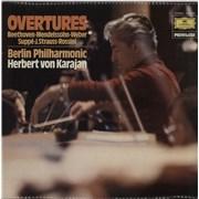 Berliner Philharmoniker Overtures UK vinyl LP