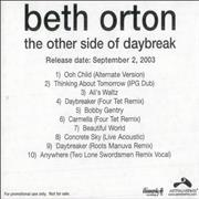 Click here for more info about 'Beth Orton - The Other Side Of Daybreak'
