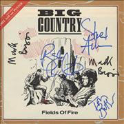 Click here for more info about 'Big Country - Fields Of Fire - Autographed!'
