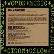 Click here for more info about 'Big Mountain - Words & Music'