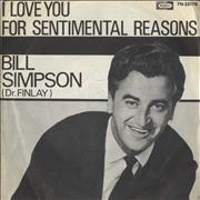 Click here for more info about 'Bill Simpson - I Love You For Sentimental Reasons - P/S'