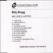 Click here for more info about 'Mr Love & Justice'