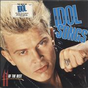 Billy Idol Idol Songs - Stickered Sleeve UK vinyl LP