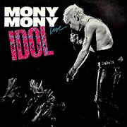 "Billy Idol Mony Mony - Live UK 7"" vinyl"