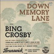 Click here for more info about 'Bing Crosby - Down Memory Lane'