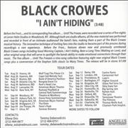 Click here for more info about 'The Black Crowes - I Ain't Hiding'