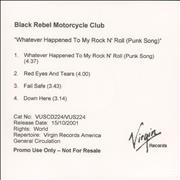Click here for more info about 'Black Rebel Motorcycle Club - Whatever Happened To My Rock N Roll'