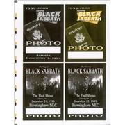 Click here for more info about 'Black Sabbath - 1999-2000 European Tour - Uncut Press Sheet'