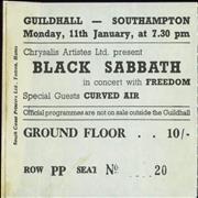 Click here for more info about 'Black Sabbath - Guildhall Southampton 1971'