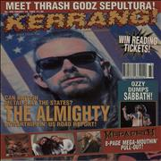 Click here for more info about 'Kerrang! Magazine - Kerrang! Magazine - Aug 93'