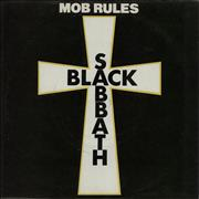 "Black Sabbath Mob Rules - Picture sleeve UK 7"" vinyl"