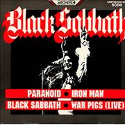 "Black Sabbath Paranoid UK 12"" vinyl"
