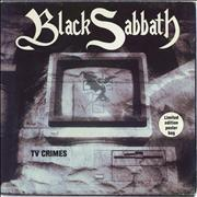 Click here for more info about 'Black Sabbath - TV Crimes - Poster Sleeve - EX'