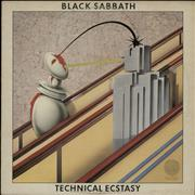 Black Sabbath Technical Ecstasy + Insert UK vinyl LP
