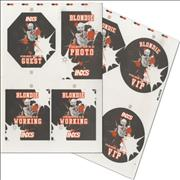 Click here for more info about 'Blondie - 2002 Starliners UK Tour Passes - Uncut Sheets'