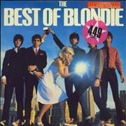 Blondie The Best Of Blondie + Poster - Stickered Sleeve UK vinyl LP