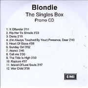 Click here for more info about 'Blondie - The Singles Box - Sampler'