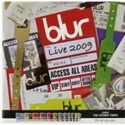Blur Live 2009 UK CD album Promo