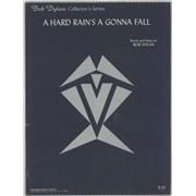 Bob Dylan A Hard Rain's A Gonna Fall USA sheet music