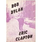 Bob Dylan Bob Dylan/Eric Clapton UK tour programme Promo