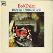 Bob Dylan Bringing It All Back Home - plain orange label UK vinyl LP