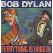 "Bob Dylan Everything Is Broken UK 12"" vinyl"