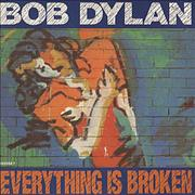 "Bob Dylan Everything Is Broken UK 7"" vinyl"